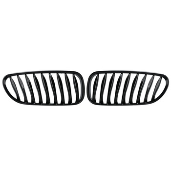 Black Front Kidney Grille Grill For BMW E85 E86 Z4 2003 - 2008 Convertible/Coupe Car Styling Bumper Grille image