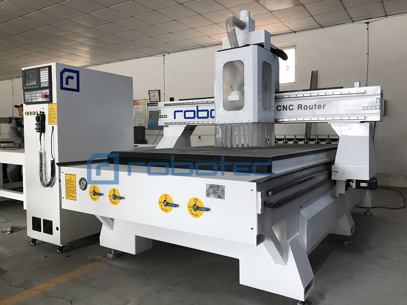 China Wood Furniture Production Line Auto-feeding Cnc Sculpture Machine 1325 Cnc Router With Automatic Tool Change Spindle