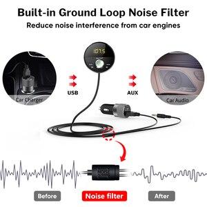 Image 4 - Deelife Bluetooth AUX מתאם במכונית דיבורית ערכת BT 5.0 אודיו מקלט עבור אוטומטי טלפון ידיים משלוח Carkit FM משדר