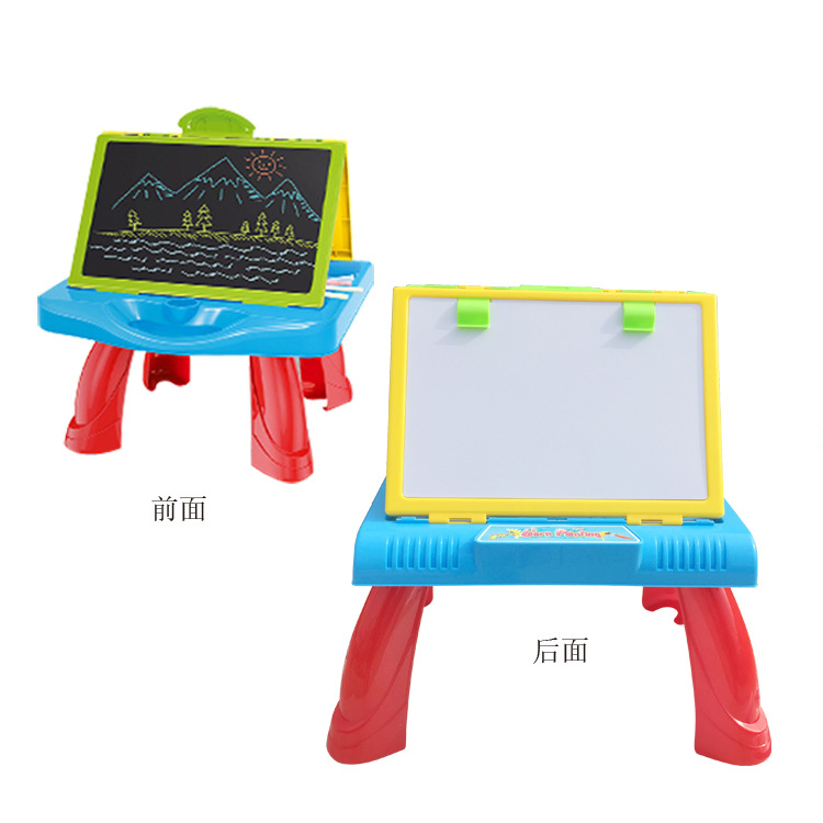 Hot Selling Children Multi-functional Plastic Double-Sided Drawing Board Graffiti Painted Writing Board Toys Source