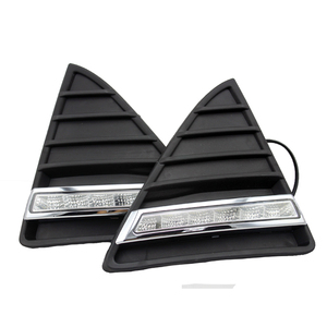 Image 5 - For Ford Focus 3 MK3 2012~2015 Daytime Running Light for Focus DRL LED Fog Lamp Cover With Yellow Turning Signal Functions