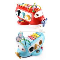 Baby Electronic Musical Aircraft Plane Toys Percussion Piano Blocks Early Learning Education Children Gift