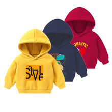 Children's hoodies for girls Kids Boys clothing Hoodie Winter – spring Plus Velvet Cartoon tops  sweatshirts for girls clothes