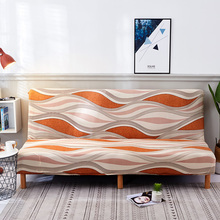 Evrensel boyutu ucuz kolsuz çekyat kapak katlanır koltuk Slipcover Modern streç kapakları kanepe koruyucu elastik Futon kapak