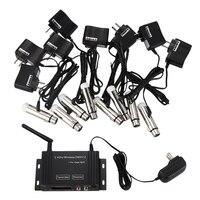9 قطعة DMX512 DMX Dfi DJ 2.4 جرام LCD اللاسلكية 8 استقبال و 1 الارسال التحكم في الإضاءة مع محول-في تأثير إضاءة المسرح من مصابيح وإضاءات على