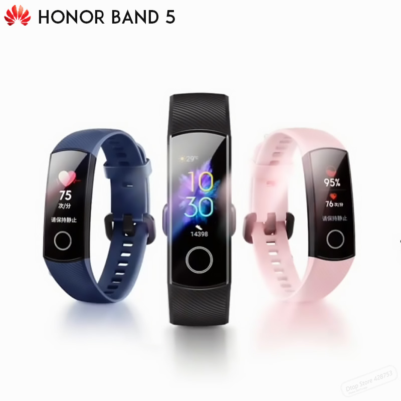 Original Huawei Honor Band 5/5i Health Sport Wristband Oximeter Color Touch Screen Swim Stroke Detect Sleep Nap Heart Rate image