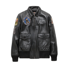 Seveyfan, натуральная кожа, пилот мА 1, куртка-бомбер, мужская, Череп, вышивка, настоящая воловья кожа, мотоциклетная байкерская куртка для мужчин, R2967