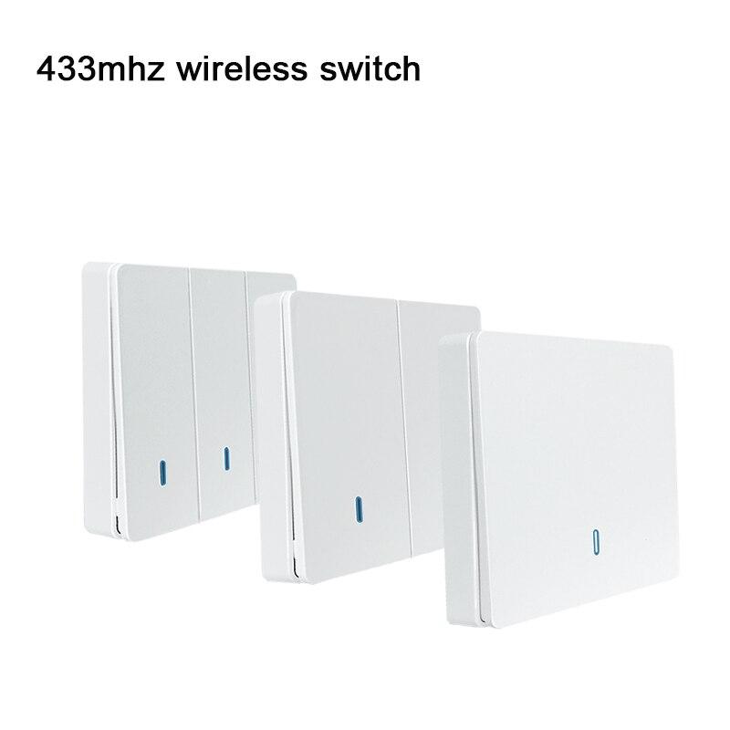 EWeLink 433 МГц пульт дистанционного управления беспроводной кнопочный настенный светильник переключатель пульт дистанционного управления ler ...