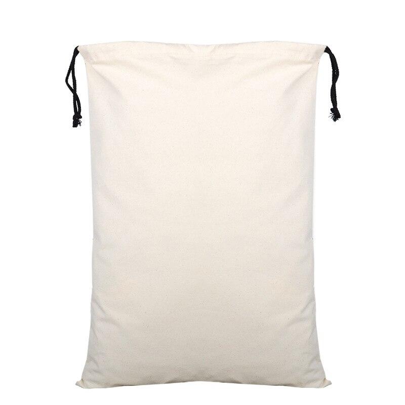 Corde noire 50 pcs/lot blanc Santa sacs 50cm x 70cm personnalisé noël Santa sac cordon cadeau sac fête fournitures
