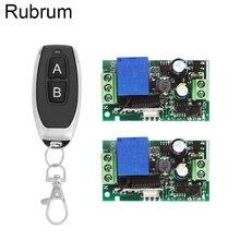 Rubrum 433 Mhz Tiếp Sức Đa Năng Điều Khiển Từ Xa Không Dây AC 110V 220V 1CH Tiếp Module Thu & 433 Mhz 2 Nút Điều Khiển Từ Xa