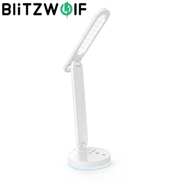 BlitzWolf BW LT16 Touch Switch Stepless Dimming Table Desk Light Eye Protect Dask Lamp with Automatic RGB Ambient Lighting Base