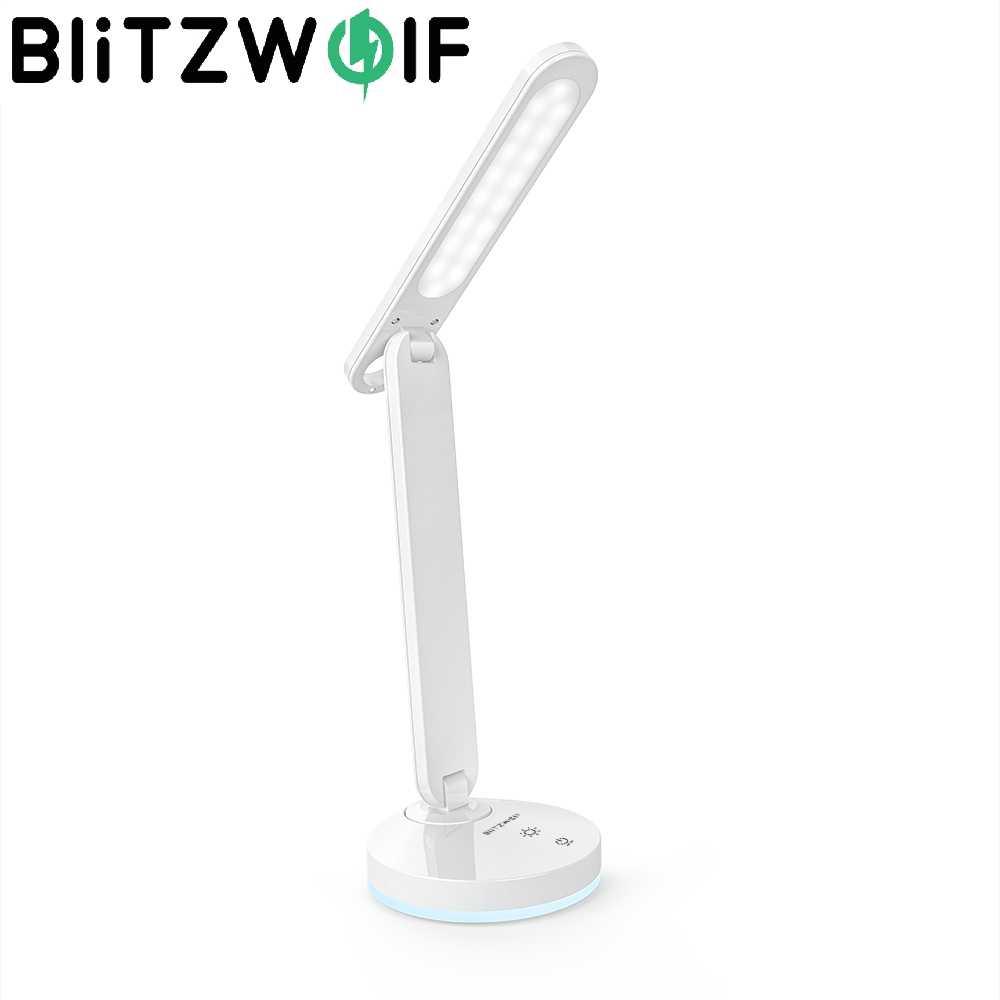 BlitzWolf BW-LT16 اللمس التبديل ستبليس يعتم الجدول مكتب ضوء العين حماية Dask مصباح مع التلقائي RGB المحيطة الإضاءة قاعدة