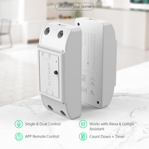 Image 2 - Blitzwolf BW SS4 básico 2200w 10a 1/2 way wifi, módulo de interruptor de casa inteligente diy, temporizador de contagem regressiva controle remoto inteligente,