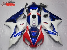 ABS Motorcycle Fairing Kit For Honda CBR1000RR 2006-2007 Injection Molding Fairings CBR 1000RR 06-07 White Blue HRC Bodyworks цены