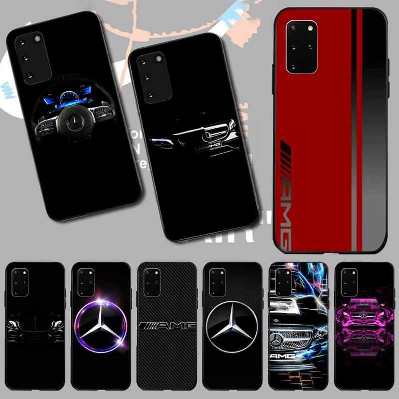 PENGHUWAN Luxus Mercedes Benz AMG DIY Luxus Telefon Fall für Samsung S20 plus Ultra S6 S7 rand S8 S9 plus s10 5G