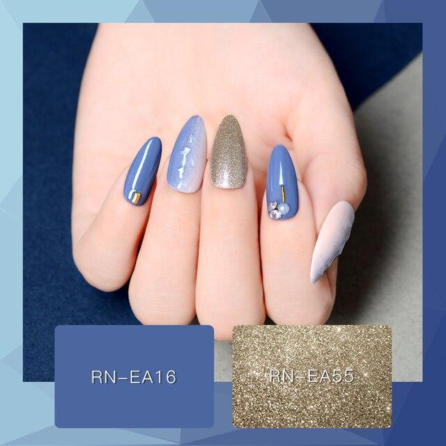 RBAN NAIL 60 Colors Matte UV Gel Nail Polish 8ml Pure Nail Color Need Matte Top Coat Soak Off Nail Art Gel Varnish Manicure 3