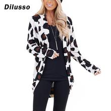 Damskie płaszcze Leopard jesienne zimowe modne płaszcze z długim rękawem otwórz Stitch 2020 nowe płaszcze damskie damskie płaszcz # D3 tanie tanio Eillysevens REGULAR Luźne Osób w wieku 18-35 lat NONE Na co dzień Trzy czwarte 0722 STANDARD Poliester Drukuj