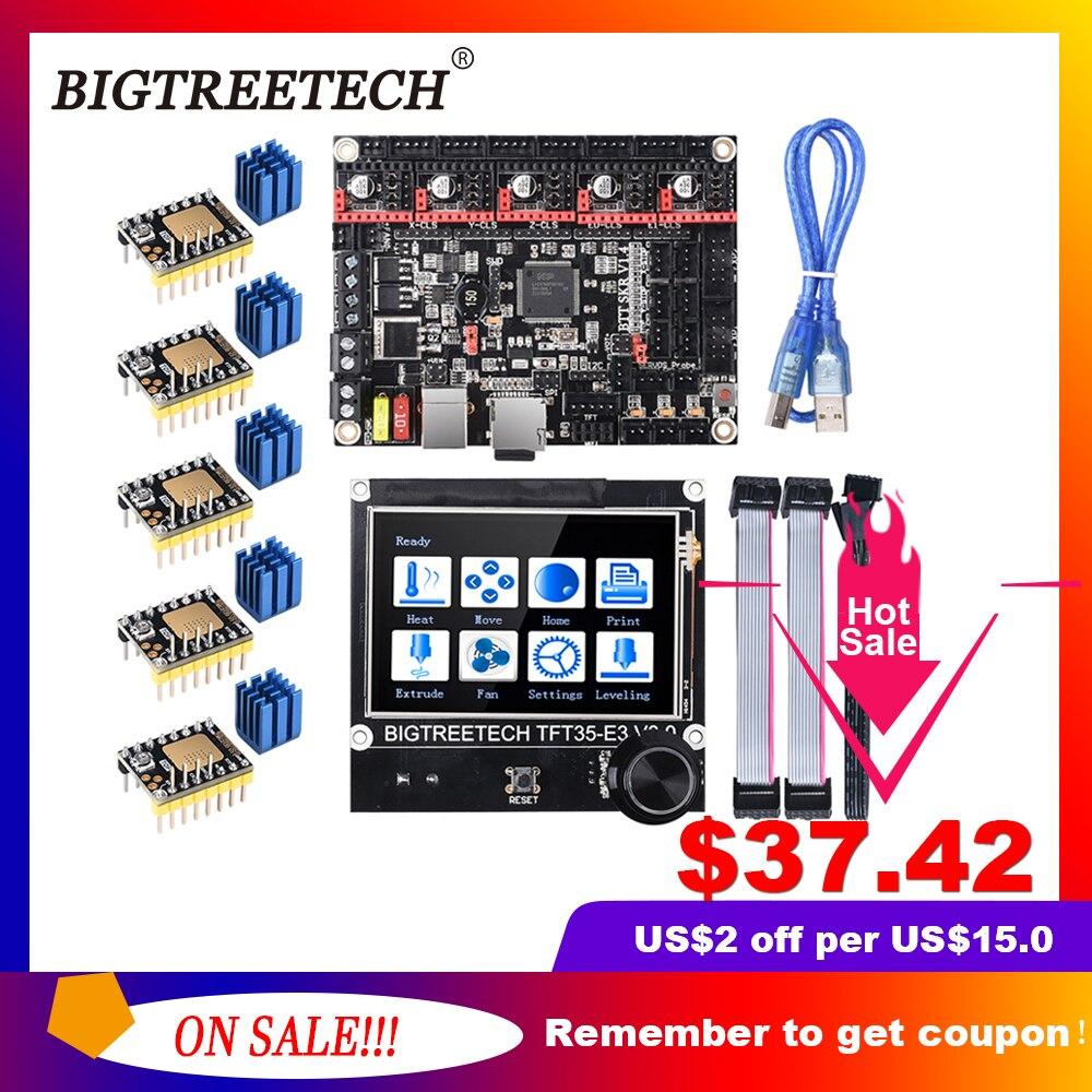BIGTREETECH BTT SKR V1 4 SKR V1 4 Turbo 32 Bit Control Board TFT35 E3 V3 0 Touch Screen TMC2209 2208UART Driver Upgrade SKR V1 3