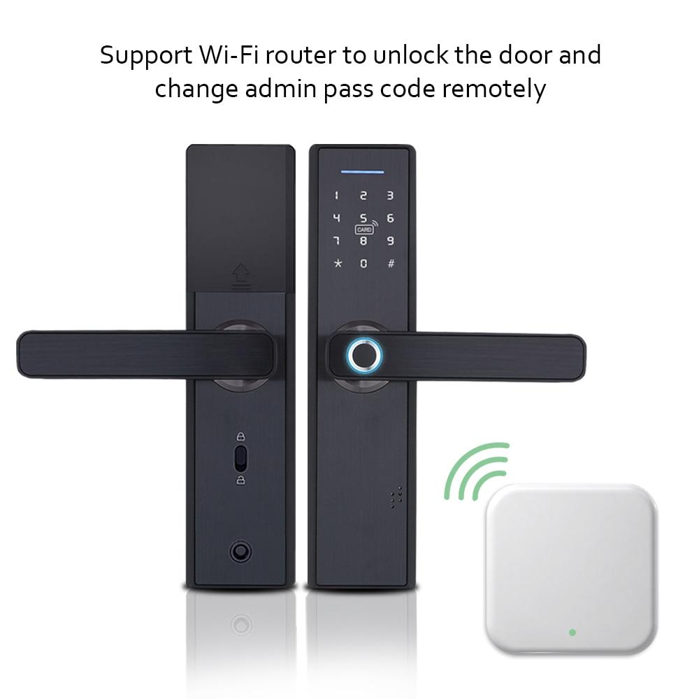Image 5 - WIFI App Electronic Door Lock, Intelligent Biometric Door Locks Fingerprint, smart wifi Digital Keyless door lock with Gateway-in Electric Lock from Security & Protection
