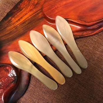 Skrobak z naturalnego rogu skrobak do masażu skrobak Cra deska masaż całego ciała narzędzie skrobanie żeber żeberka Beauty Aids tanie i dobre opinie LANBENA CN (pochodzenie) Masaż i relaks
