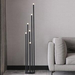 Image 1 - Lámpara LED de pie de rama de diseño, lámpara de pie negra mate de 12W para sala de estar nórdica, dormitorio, arte, decoración del hogar, iluminación de suelo