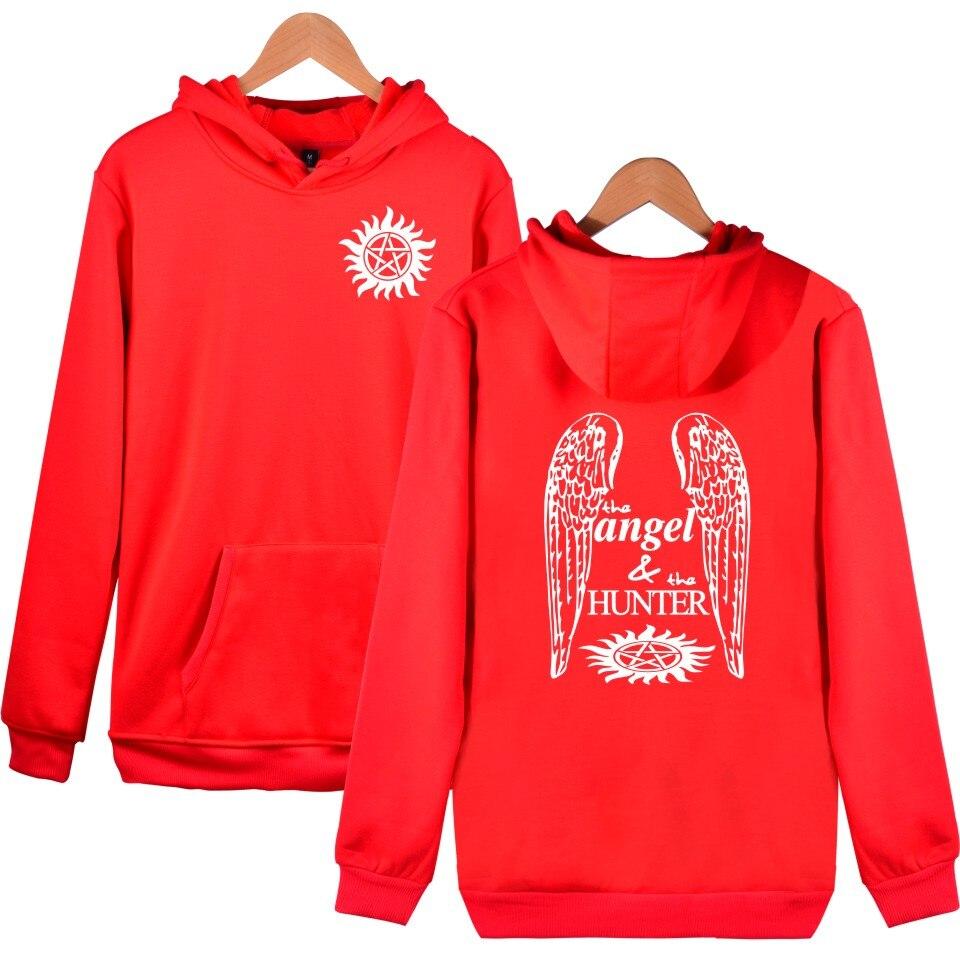 Classic Fashion Design Supernatural Angel And Hunter Hoodies Cotton Men/Women Sweatshirt Boys/girls Brand Fashion Sportswear