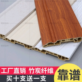 Bamboo Skirting Article TV Backdrop Decoration Bordered Design PVC Baseboard