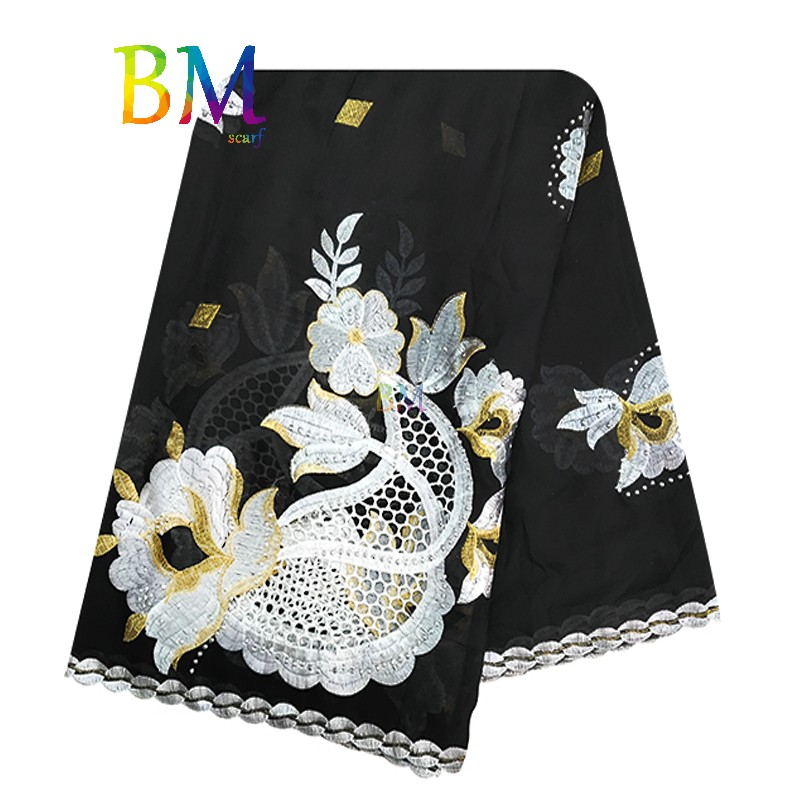 High Quality Muslim Scarf New Big Yards Of Cotton And Comfortable Fashion Turban Embroidered Scarves Shawls Scarf BX80