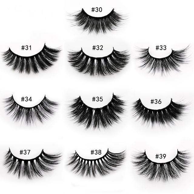 Wholesale Eyelashes 20/40/50/100pcs 3d Mink Lashes Natural Mink Eyelashes Wholesale False Eyelashes Makeup False Lashes In Bulk 1