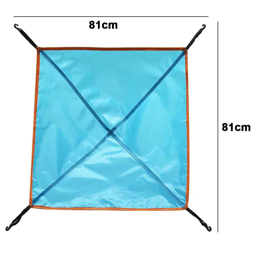 في الهواء الطلق التخييم خيمة غطاء فوقي مقاوم للرطوبة مقاوم للماء غير نافذ للمطر الشمس واقية من فتحة سقف غطاء الشاطئ الشمس المأوى التخييم لوازم