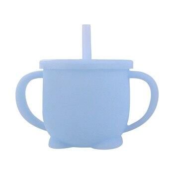 Blue - Silicone Feeding Cup