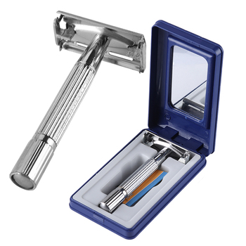 1 Set Safety Double Edge Razor For Men Barber Straight Razor Men's Shaving Face Razor Blades Shaving Machine Man Gifts Dropship