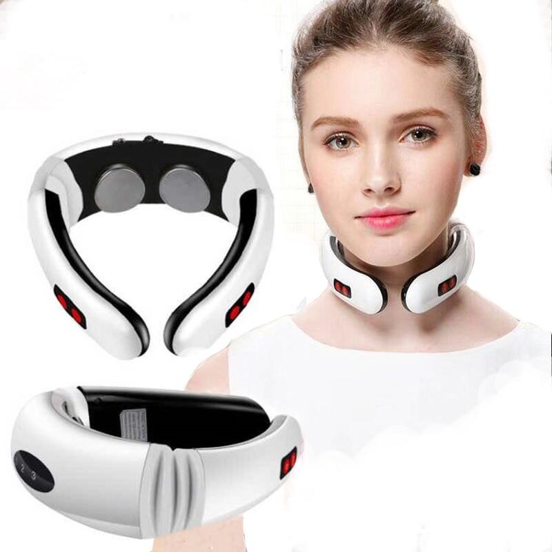Электрический импульсный массажер для спины и шеи с дальним инфракрасным нагревом, инструмент для облегчения боли, забота о здоровье