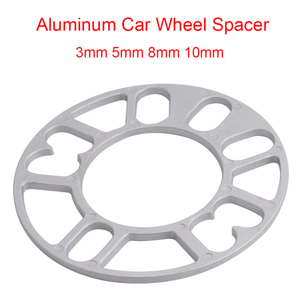 SPEWPRP Universal Aluminum Wheel Spacer Shims Plate 3mm 5mm 8mm 10mm Fit 4x100 4x114.3 5x100 5x108 5x114.3 5x120(China)