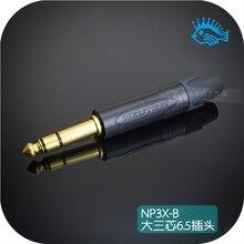 1 шт. Швейцарский Neutrik NP3X-B большой три ядра 6,35 стерео 6,5 микрофон разъем для микрофона