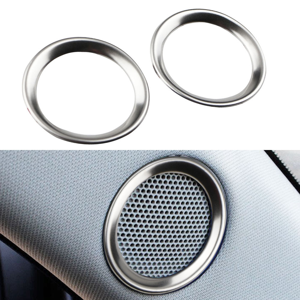 Xburstcar For <font><b>Mazda</b></font> CX-5 <font><b>CX5</b></font> 2017 - <font><b>2019</b></font> Speaker Sound Ring Trim Cover Stainless Steel Decoration Interior Mouldings <font><b>Accessories</b></font> image