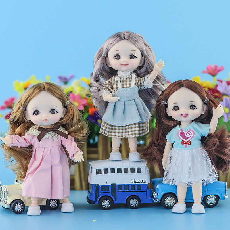 New Doll's Clothes For 1/12 16cm BJD SD Doll Dress Suit Ob11 Dress Girl DIY Dress Up Toy Accessories Gift