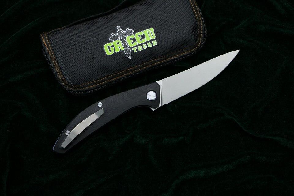 Зеленый шип SIGMA mrbs D2 лезвие G10 стальная ручка Открытый Отдых Охота Карманный кухонный фруктовый практичный Складной Нож EDC инструменты - 2
