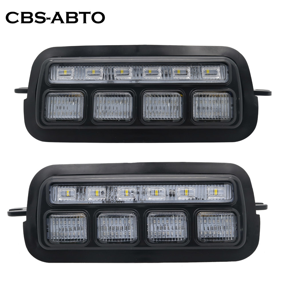 LED Headlight DRL For <font><b>LADA</b></font> Urban NIVA 4X4 2121 <font><b>2131</b></font> 21213 21214 Daytime Running Light with turn signal lights car accessories image