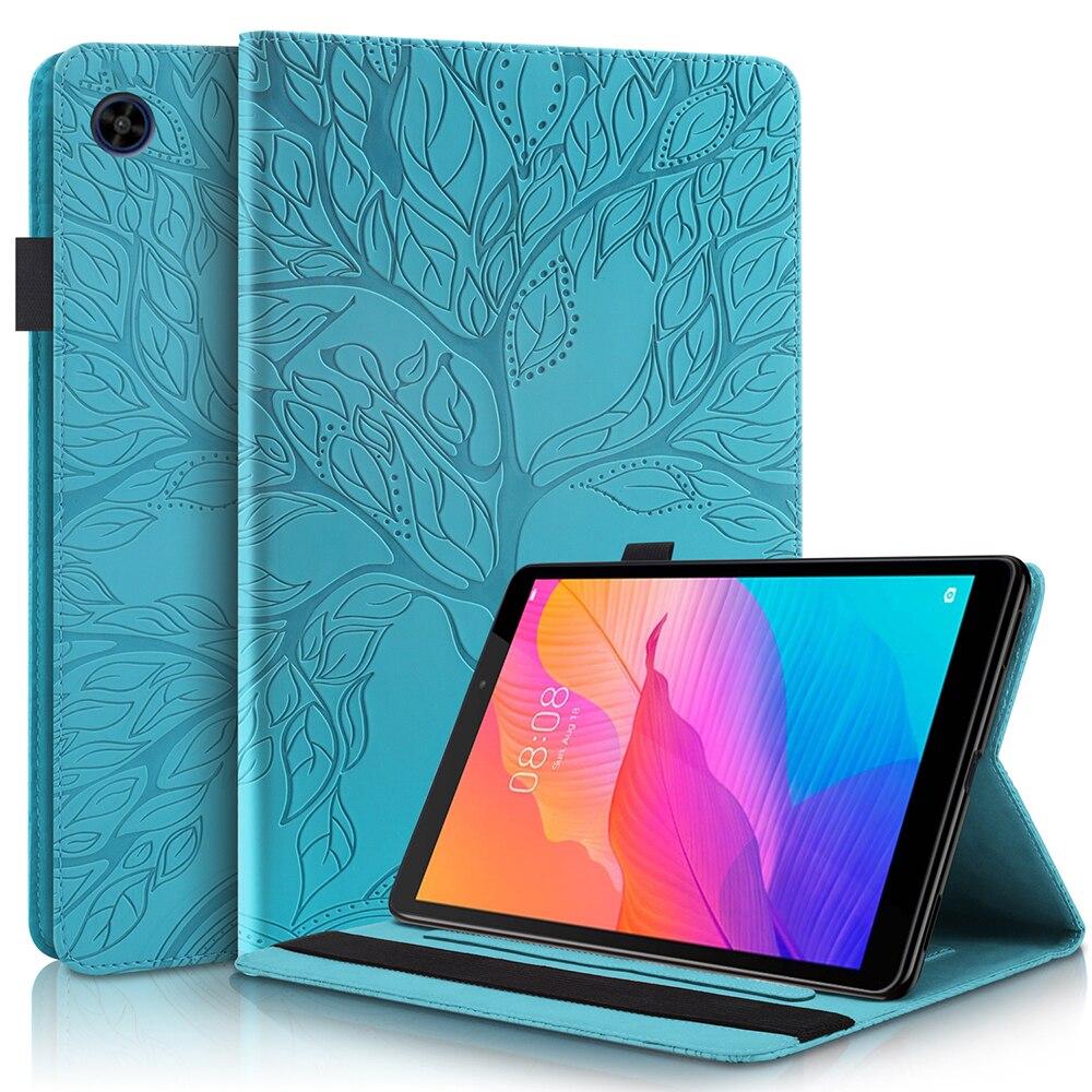 Роскошный чехол из искусственной кожи для планшета HUAWEI MediaPad T5 10,1 дюймов, чехол-книжка с подставкой и отделением для карт, держатель для кара...
