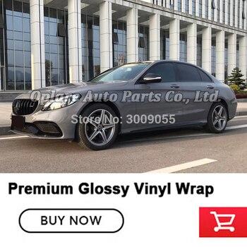 High-end glossy Vinyl wrap Nardo grey vinyl wrapping Fourth generation low initial tack adhesive 5m/10m/18m
