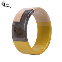 GuanLong Hot Sales Big Fashion Cuff Wide Resin Bangles Bracelet for Women Simple Vintage Acrylic Geometric Bangle Charm Jewelry(China)