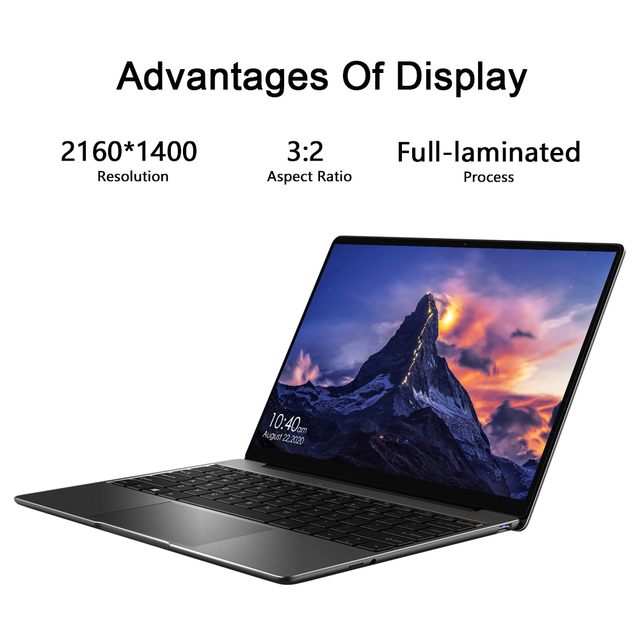 "CHUWI GemiBook 13"" 2K IPS Screen LPDDR4X 12GB 256GB SSD Intel Celeron Quad Core Windows 10 Laptop with Backlit Keyboard 2"