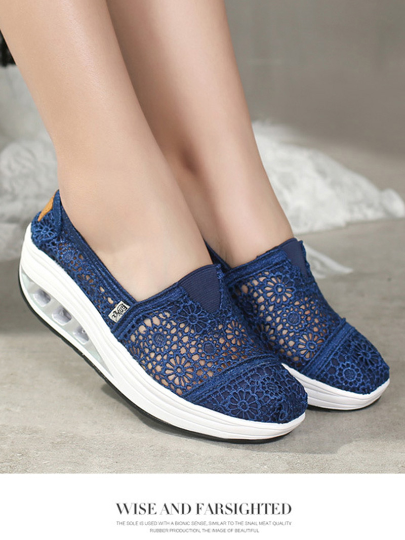 New Spring Summer Hollow Canvas Shoes Women Fashion Lace Slip on Shoes for Women Breathable Platform Shoes 2020 VT750 (12)