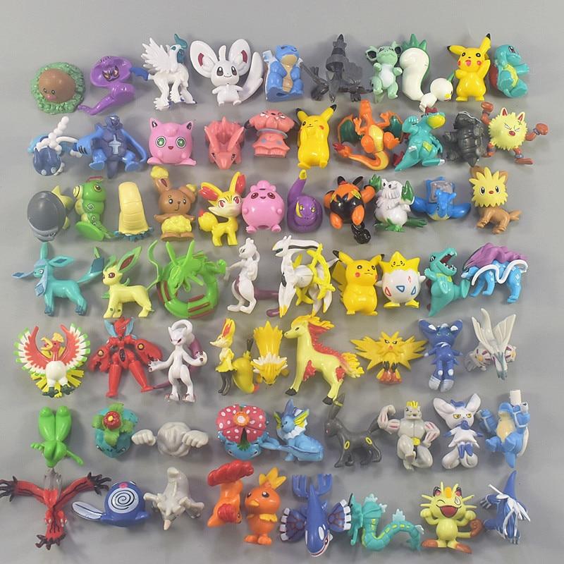 4-5CM 200 Different Styles High Grade Pkm Action Figure Bulbasaur Charmander Pikachues For Children Birthday Gift