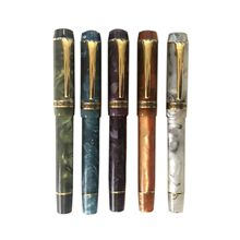 Nova cor kaigelu 316 caneta fonte ef f m nib bonito mármore âmbar padrão caneta de tinta escrita presente para negócios de escritório