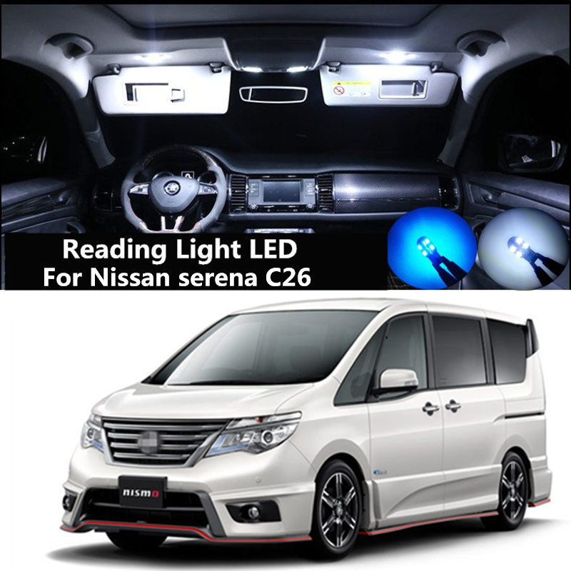 Car Reading Light LED For Nissan SERENA C25 C26 C27 Modification Lnterior Light Roof Light LED