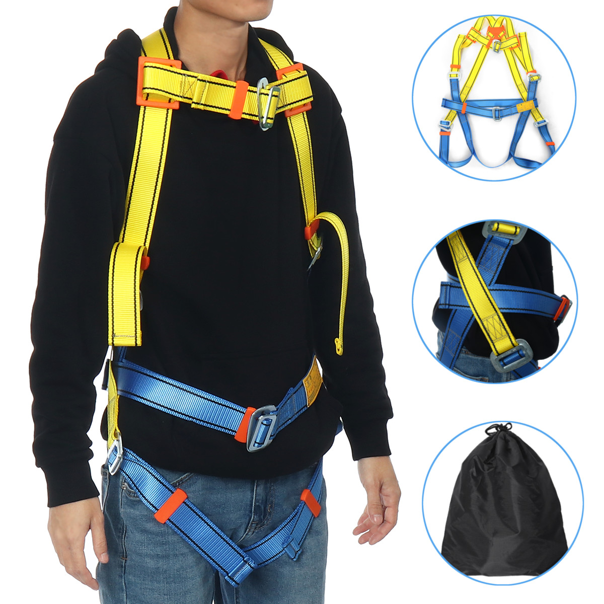 D-Ring Belt Working Fall Protective-Equipment Safety-Harness Roofing-Tool Industrial Construction Harness Full Body Type