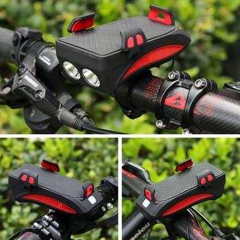 BikeTool - 4 in 1 Bicycle Phone Holder (Phone Holder, Power Bank, Headlights, Horn) 6
