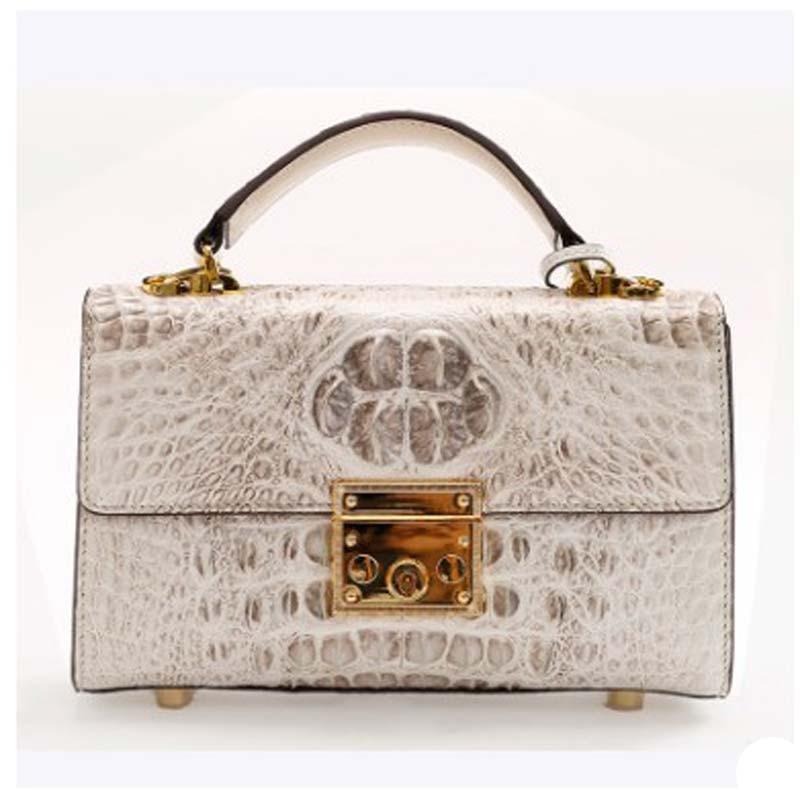 Ourui True  Crocodile  Female  Package  Portable  Little Bread  Genuine Leather  Single Shoulder Bag  Women Handbag